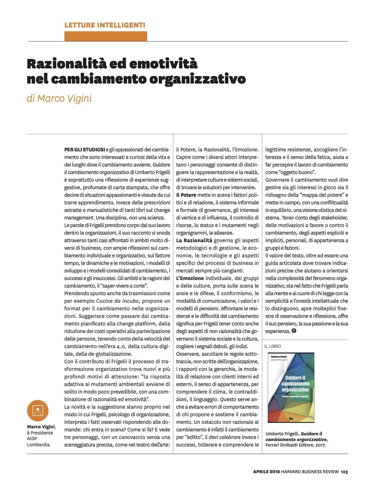 Razionalità ed emotività nel cambiamento organizzativo