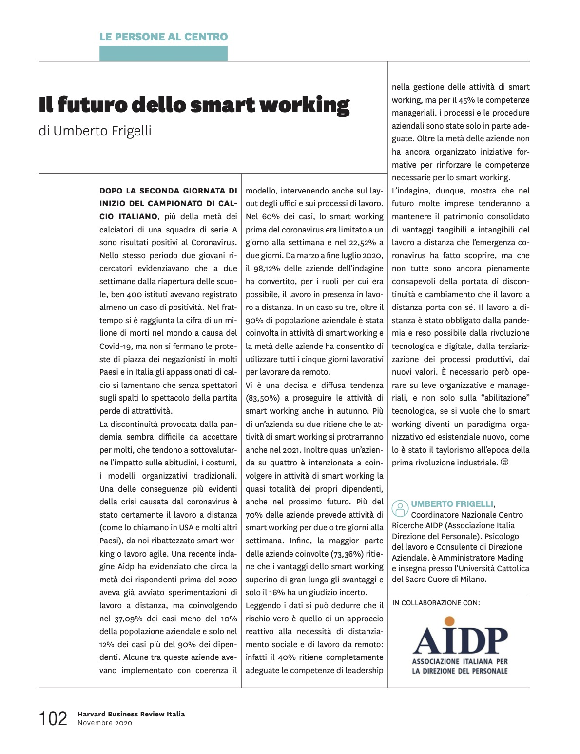 il futuro dello smart working